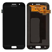 Дисплей для Samsung Galaxy A5 A520 (2017), модуль в сборе (экран и сенсор), черный, OLED