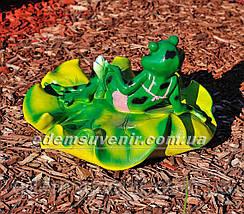 Садовая фигура Жабы на лилии, фото 2