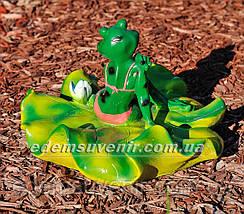 Садовая фигура Жабы на лилии, фото 3