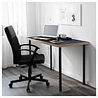 Компьютерный стол IKEA LINNMON / ADILS 120x60 см синий черный 292.141.66, фото 2
