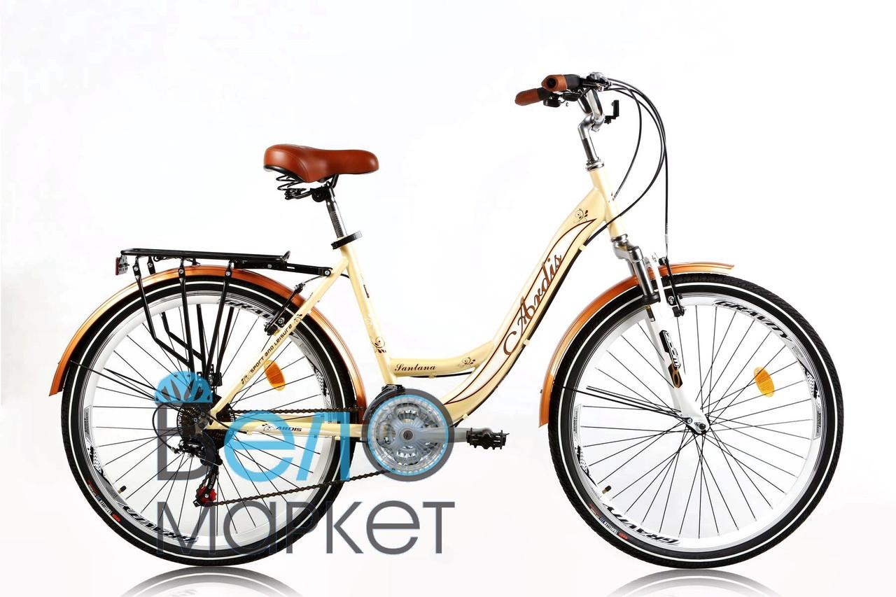 "Велосипед ARDIS Santana 2 CTB 26"" 17"" Бежевий / дамська сталева рама"