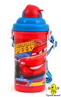 Бутилочка для напоїв з трубочкою Маквін 400мл., 1Вересня арт.706263  - CM01167
