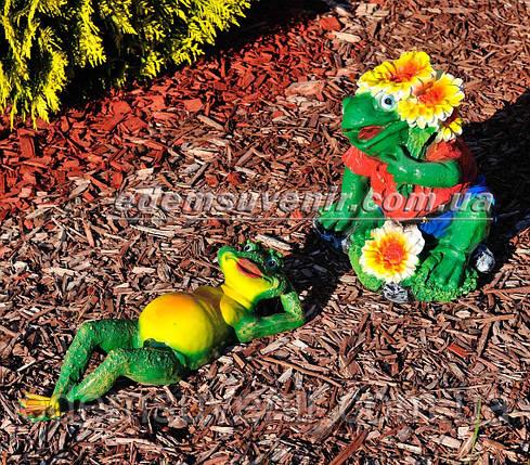 Садовая фигура Жаба на отдыхе и Жаба юбилейная, фото 2