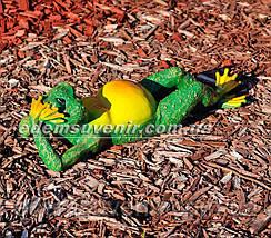 Садовая фигура Жаба на отдыхе и Жаба юбилейная, фото 3