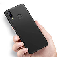 Черный силиконовый чехол Huawei Y7 (2019)
