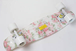 "Пенни Борд Penny Board Принт 22"" - White Rose 54 см, фото 2"