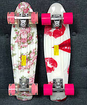 "Пенни Борд Penny Board Принт 22"" - White Rose 54 см, фото 3"