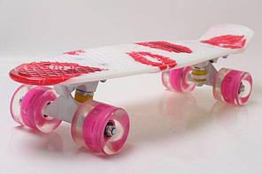 """Пенни Борд Penny Board Принт 22"""" LED-колеса - Помада 54 см, фото 2"""