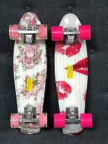 """Пенни Борд Penny Board Принт 22"""" LED-колеса - Помада 54 см, фото 3"""