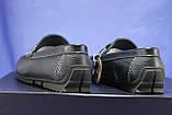 Кожаные мужские демисезонные мокасины синие Bertoni-shoes (размеры:40,42,43,45), фото 3