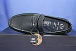 Кожаные мужские демисезонные мокасины синие Bertoni-shoes (размеры:40,42,43,45), фото 4