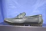 Кожаные мужские демисезонные мокасины синие Bertoni-shoes (размеры:40,42,43,45), фото 5