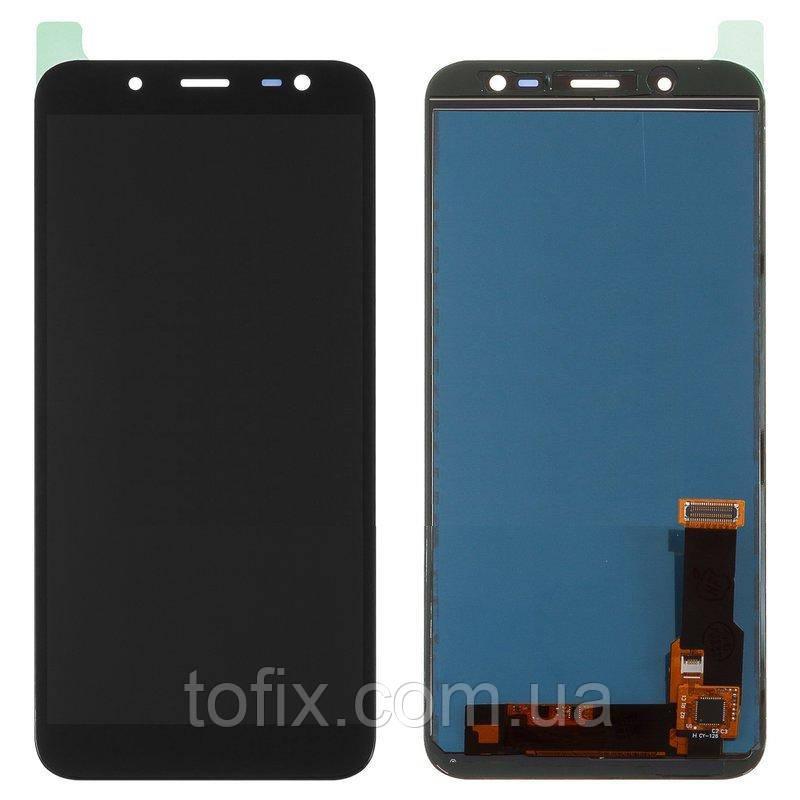 Дисплей для Samsung J600 Galaxy J6 (2018), модуль в сборе (экран и сенсор), черный
