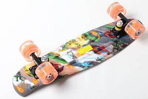 """Пенни Борд Penny Board Принт 22"""" LED колеса - Человек-Паук 54 см, фото 2"""