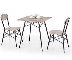 Столовый комплект KABIR 70 квадрат + 2 кресла (Halmar)