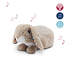 Детский ночник - музыкальный светильник с проектором Zazu Ruby кролик