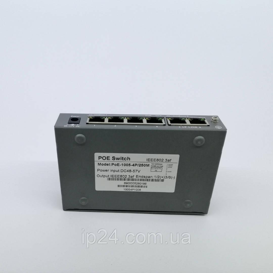 Коммутатор PoE-1005-4P/250m