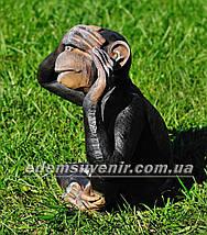 Садовая фигура Обезьяна глухая, немая и слепая, фото 3