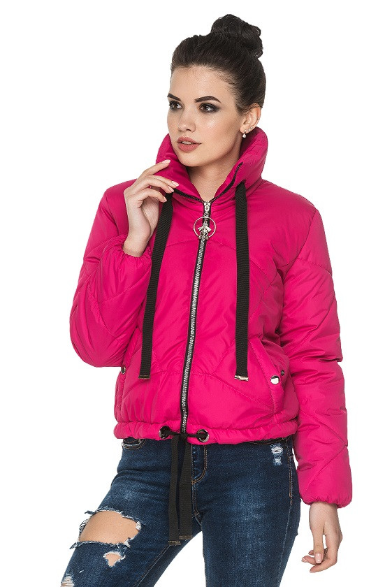 b35f5ee1565 Красивая куртка осень-весна Моника малиновый (44-54) - цена 1 015 ...