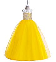 Сукні яскраво-жовте бальна випускний довге в підлогу ошатне для дівчинки в садок або школу, фото 1
