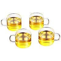 Чашки стеклянные Kamjove K-106, 120 мл (4 шт)