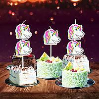 """Свеча для торта """" Единорог """" 5 шт."""
