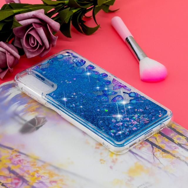 Samsung Galaxy a30S чехол накладка aqua series Синие бабочки