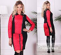 Женский теплый юбочный костюм. 3 цвета!, фото 1