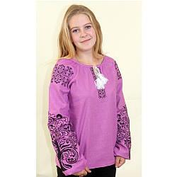 Вышиванка женская Ольга фиолетовый лен