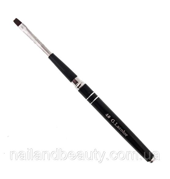 Кисть для наращивания G.Lacolor с черной ручкой 4