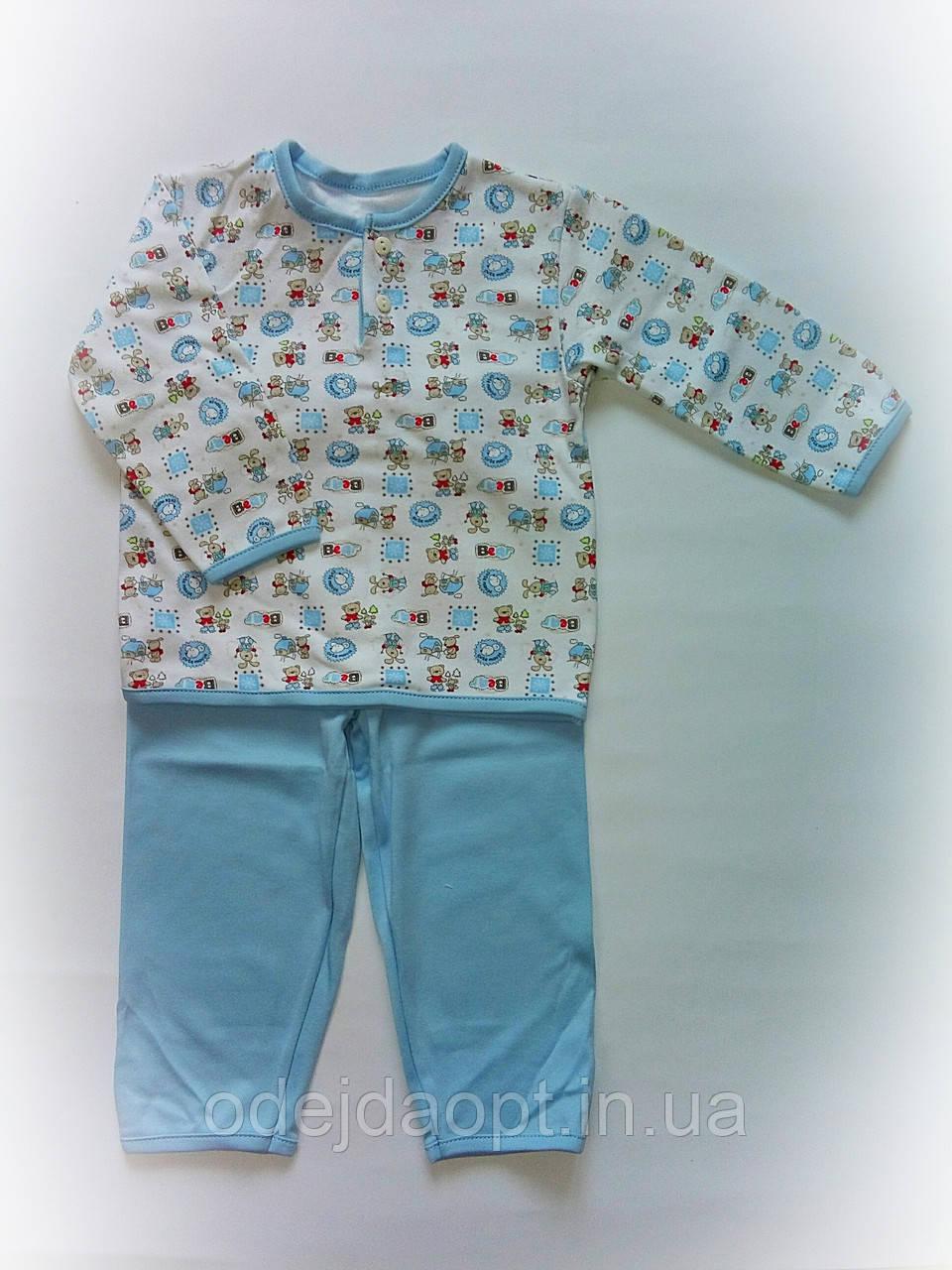 Детская пижама для мальчика интерлок 8-9 месяцев ,1-2 года