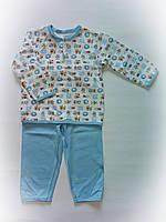 Детская пижама для мальчика интерлок 8-9 месяцев ,1-2 года, фото 1