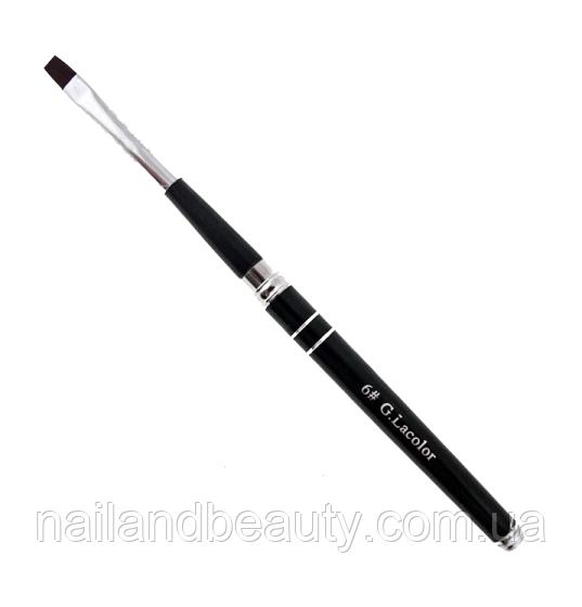 Кисть для наращивания G.Lacolor с черной ручкой 6