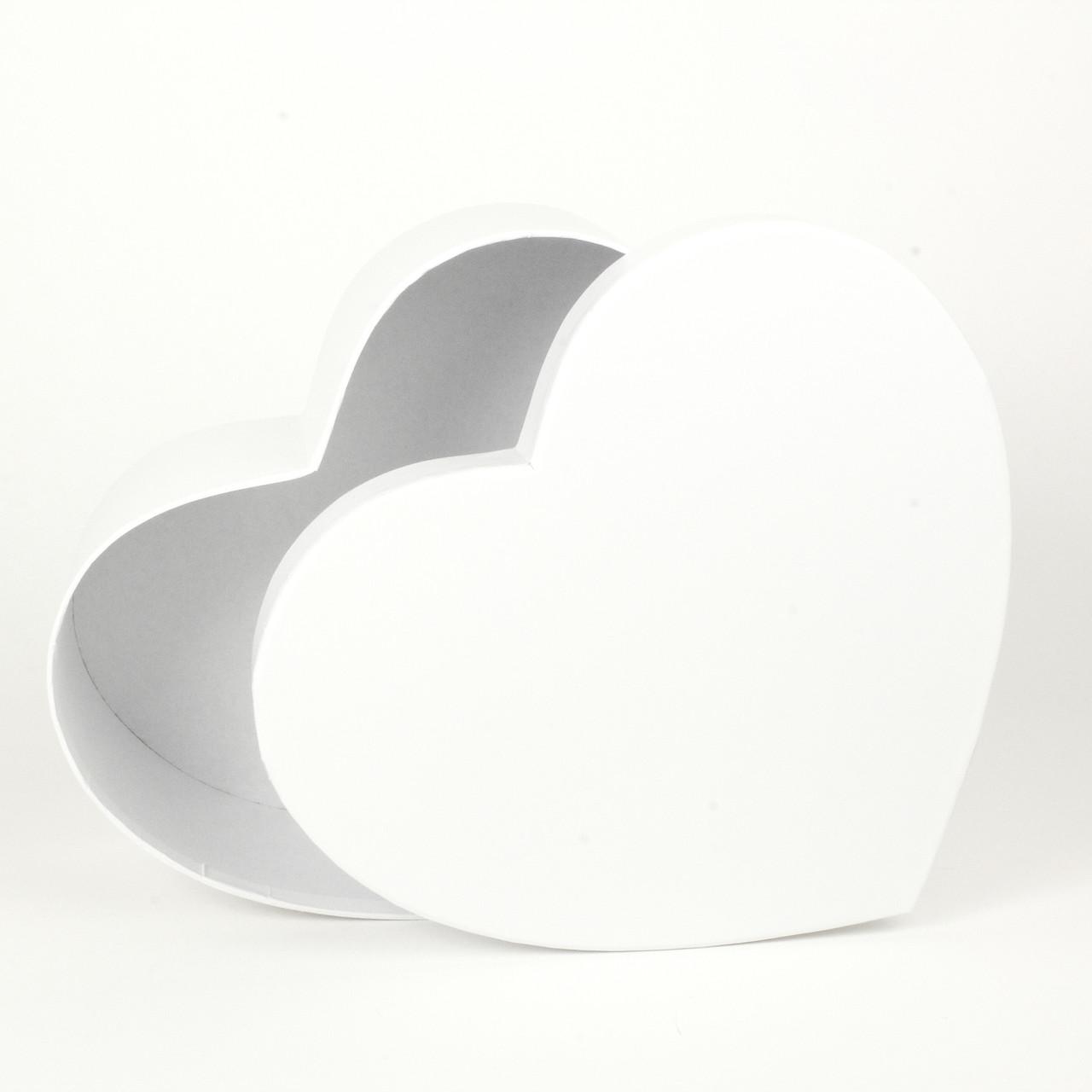 Подарочная коробка в форме сердца белая 19 х 17 х 7 см