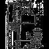 Смеситель для умывальника EMMEVI TIFFANY NO6003 золото/черный, фото 2