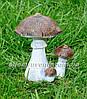 Садовая фигура Грибы, Подберезовик, Подберезовик малый, Гриб зонтик и Ежик клубочек, фото 4