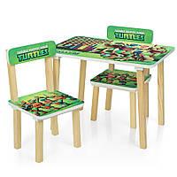 Детский столик с двумя стульчиками 501-51 Черепашки Ниндзя