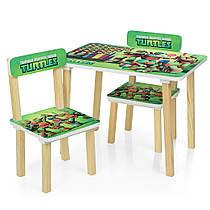 Дитячий столик з двома стільчиками 501-51 Черепашки Ніндзя