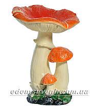 Садовая фигура Грибы Рыжики и Еж подарочный, фото 3