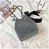 Серая женская сумка с бантом, фото 5