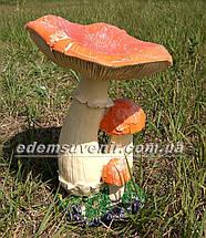 Садовая фигура Грибы Рыжики и Еж малый, фото 2