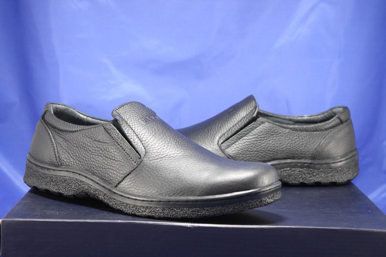 Мужские лёгкие повседневные демисезонные туфли комфорт натуральная кожа VASLAV