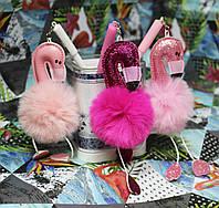 """Ручка детская гелевая №13328/148 """"Фламинго""""с брелком, син. 0,38мм (уп24), фото 1"""