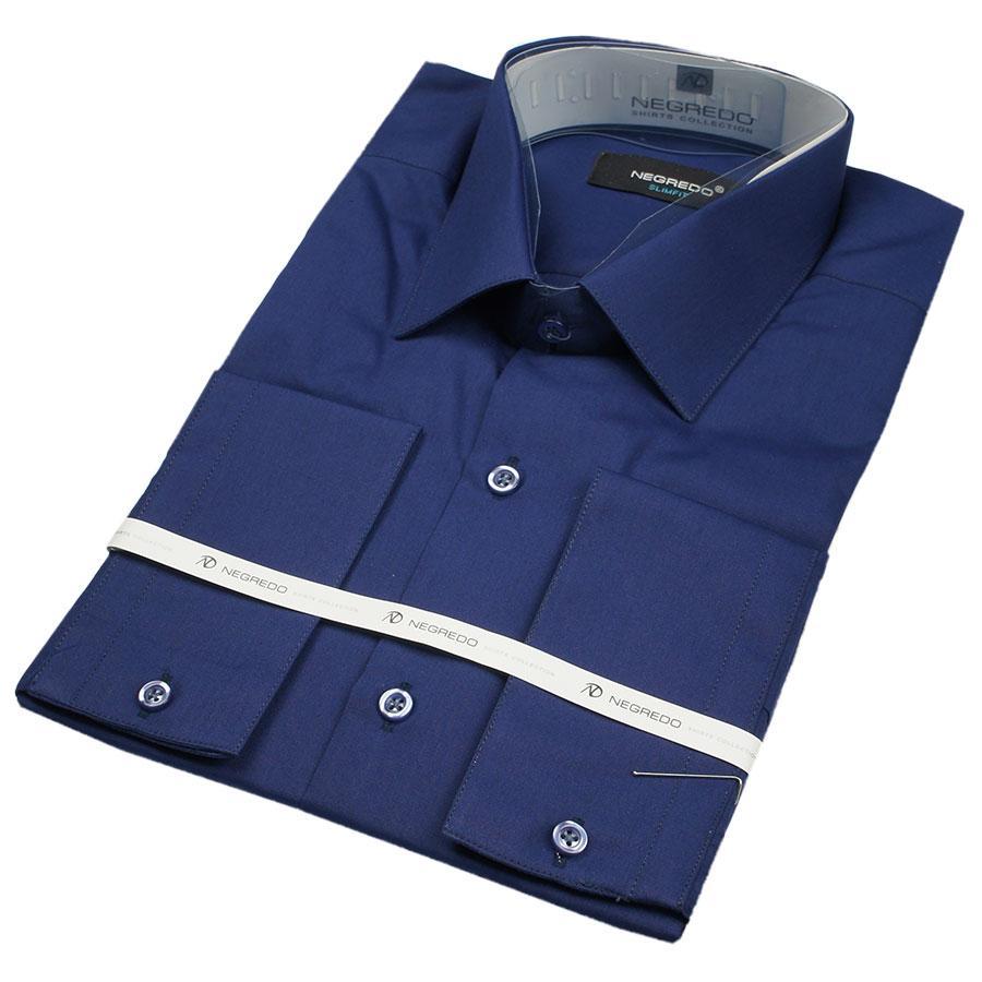 Мужская классическая рубашка Negredo 30050 Classic в синем цвете