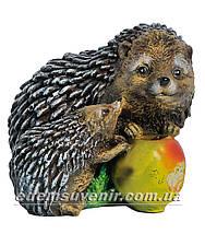 Садовая фигура Грибы Рыжики, Ежик Тоха и Ежи с яблоком, фото 3