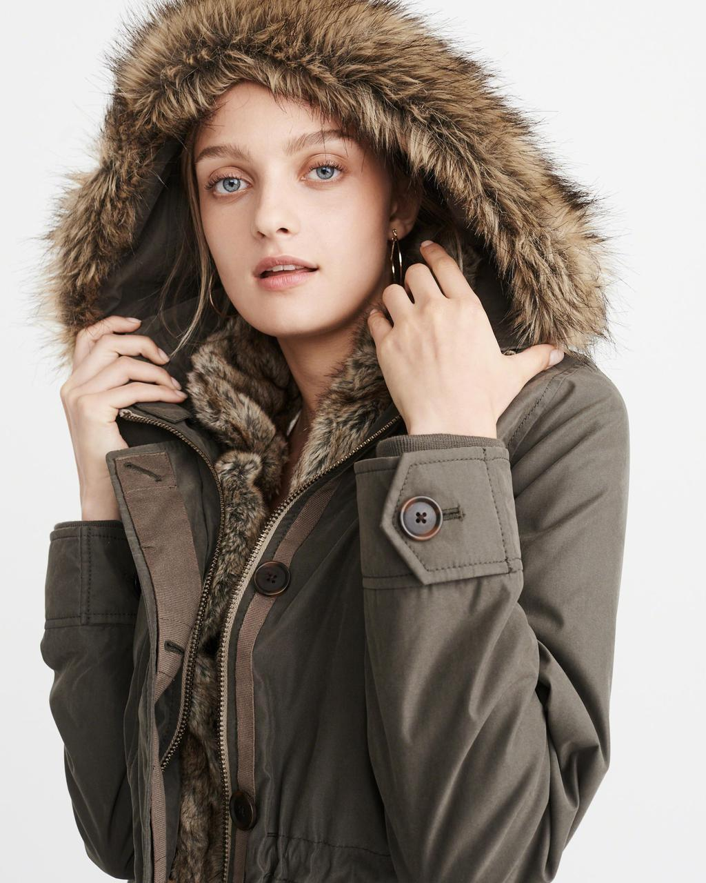 Парка Abercrombie & Fitch 3 в 1 Faux Shearling Lined Parka M