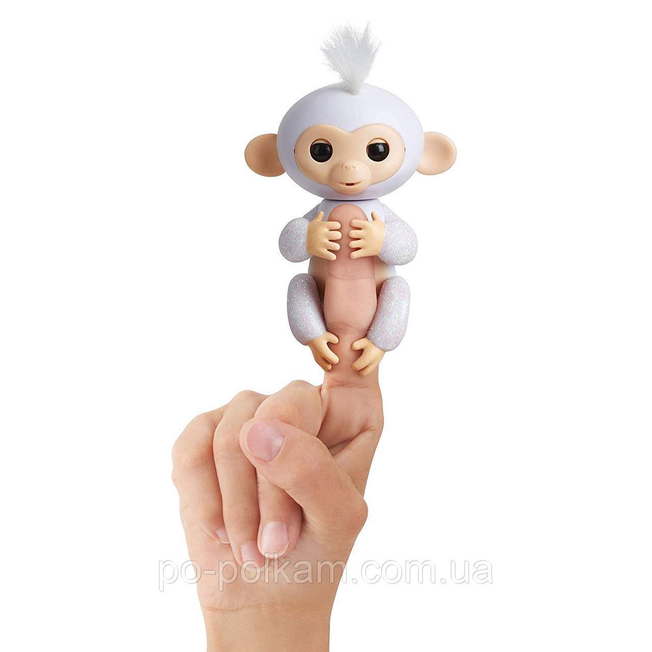 Интерактивная обезьянка WowWee Baby Pet - Sugar (White Glitter), оригинал, фото 1
