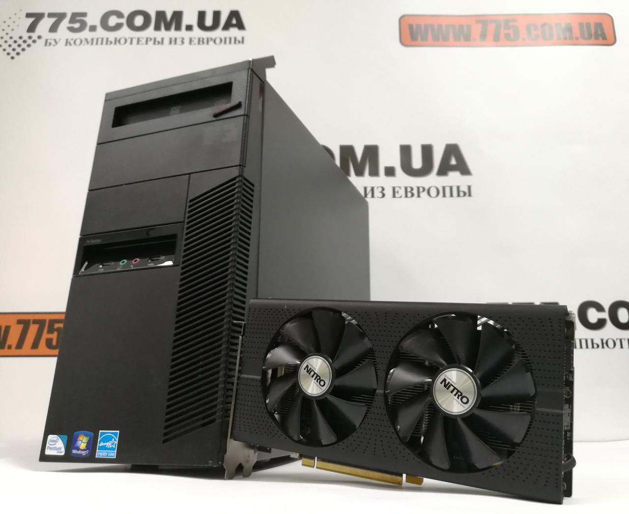 Компьютер Lenovo M81, Intel Core i5-2400 3.4GHz, RAM 8ГБ, SSD 120ГБ, HDD 500ГБ, Radeon RX570 4GB