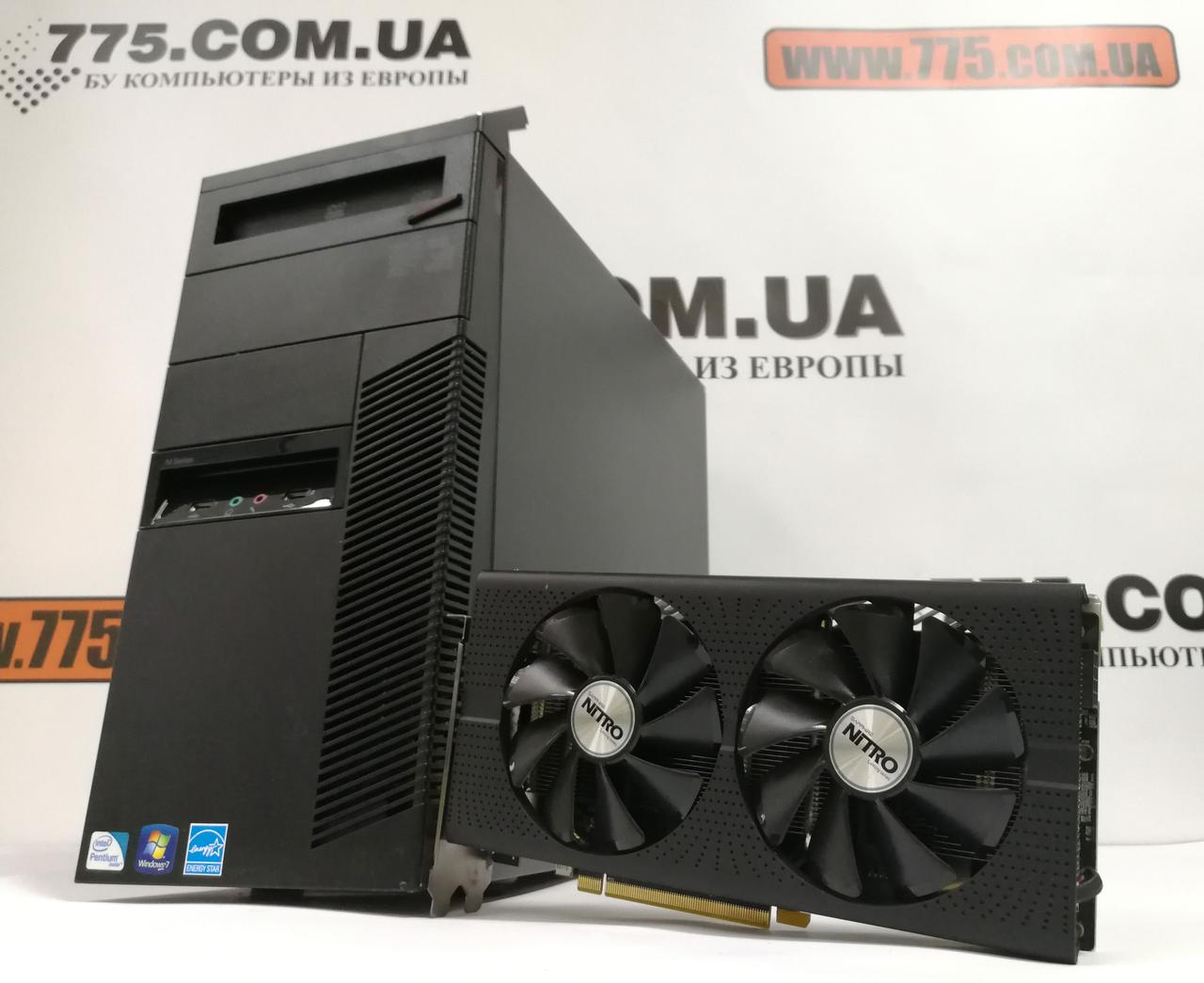 Компьютер Lenovo M82, Intel Core i5-3470 3.6GHz, RAM 12ГБ, SSD 120ГБ, HDD 500ГБ, Radeon RX470 8GB