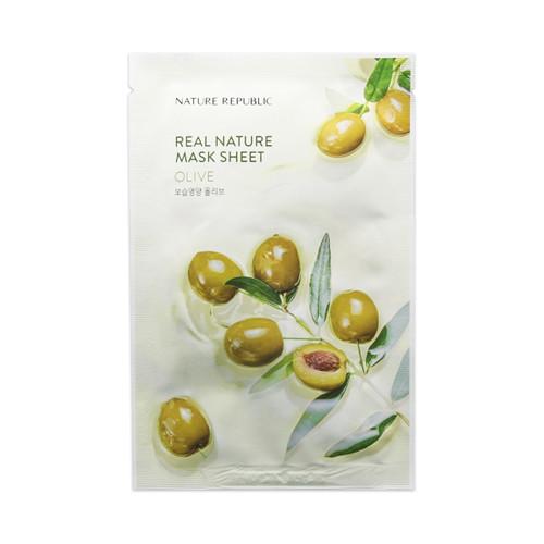 Зволожуюча тканинна маска Nature Republic Real Nature Mask Sheet - Olive